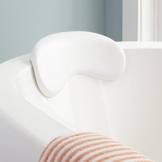 Stunning Bathtub Wedge Curved Bath Pillow Bathroom